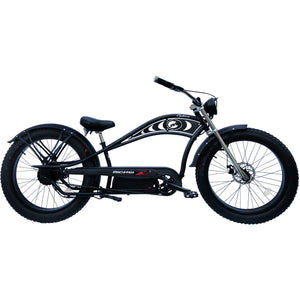 Micargi 26″ Cyclone Deluxe Fat Tire Electric Chopper Style Cruiser Bicycle