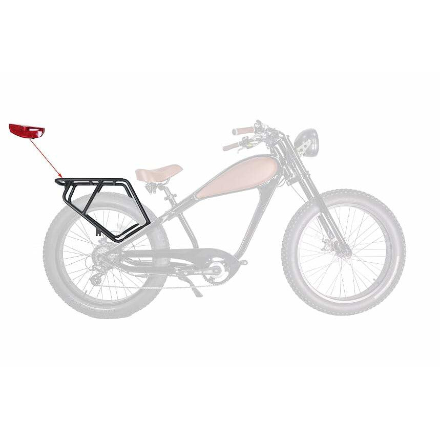 Cheetah E-bike Rear Rack & Tail light - Electric Bikes