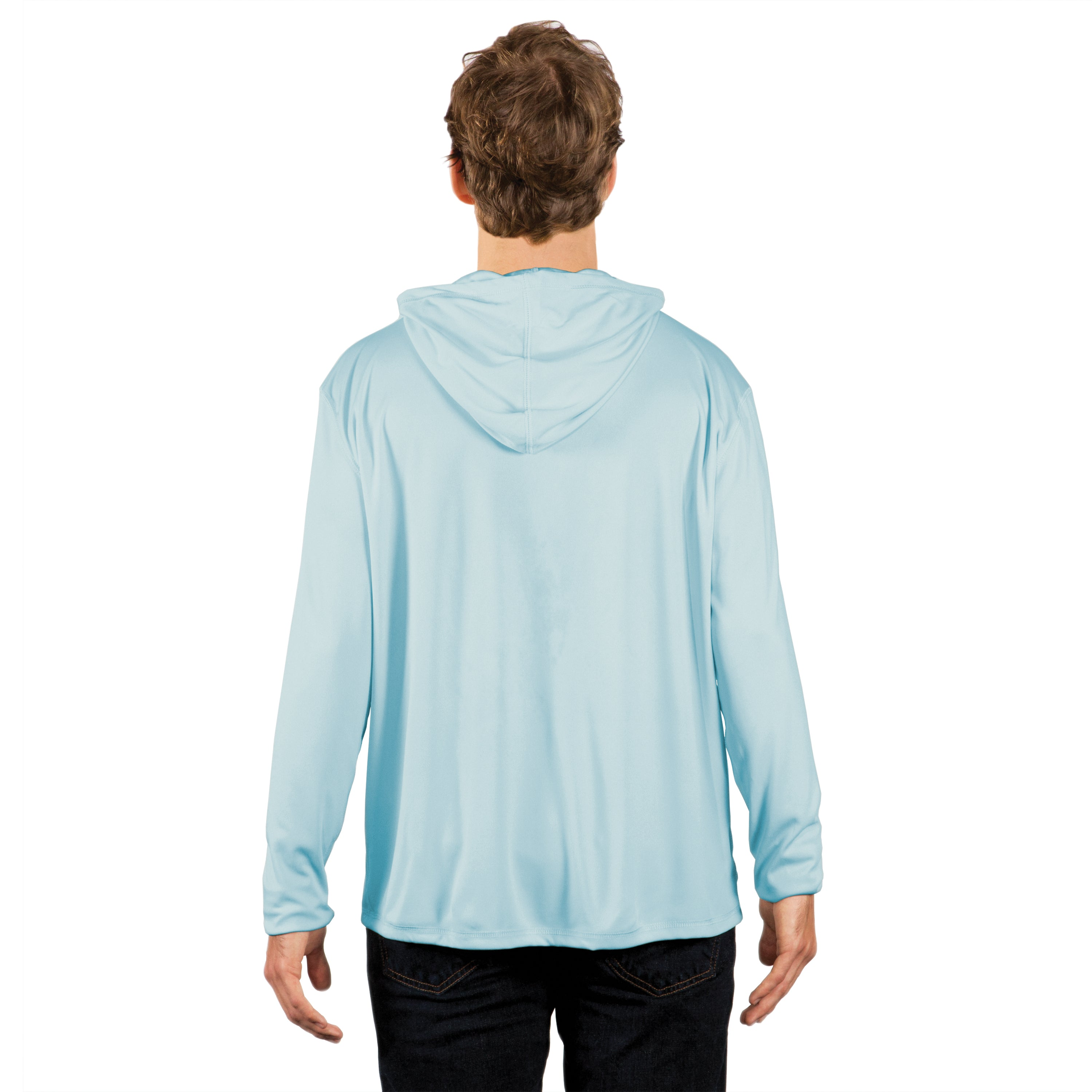 H700AB Solar Hoodie With Pocket - Arctic Blue
