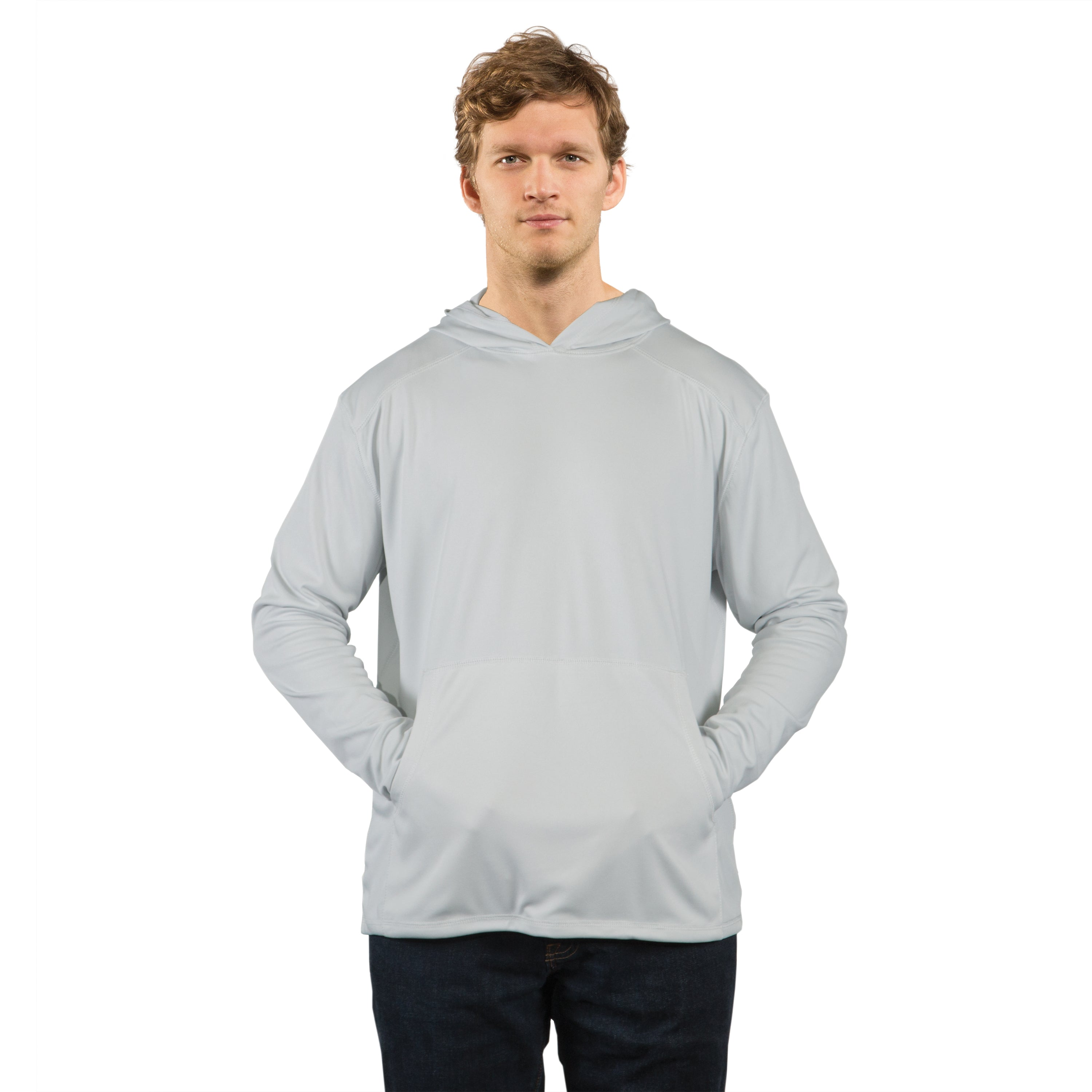 H700PG Solar Hoodie With Pocket - Pearl Grey
