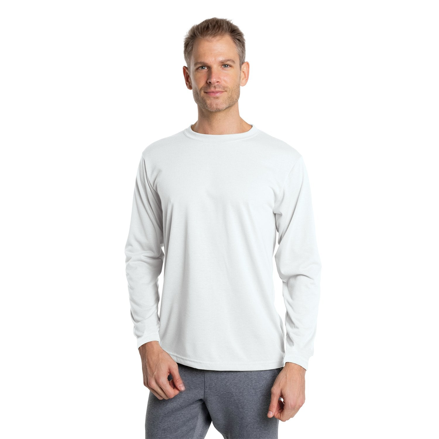 PT700WH Basic Tech Long Sleeve T-Shirt - White