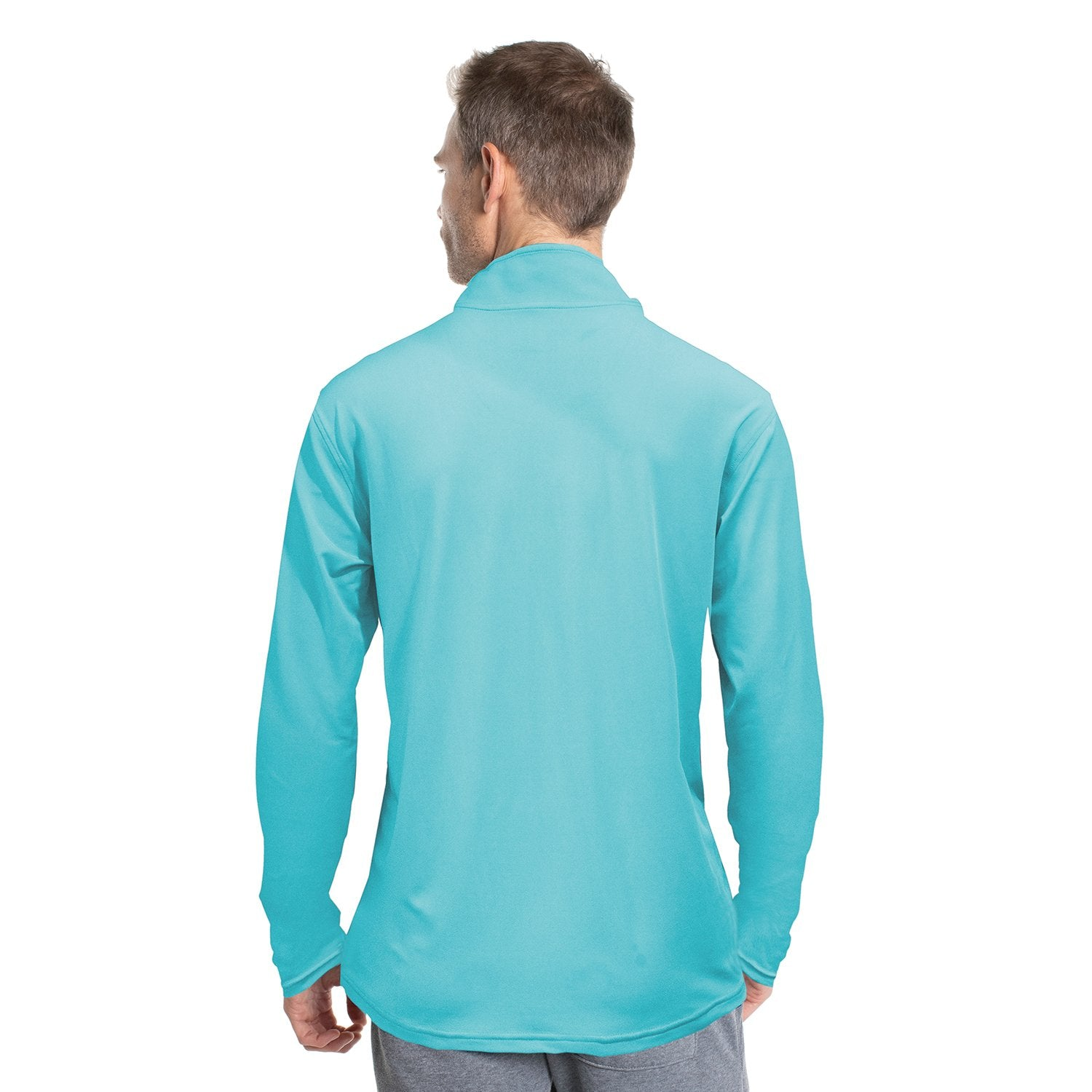Z730BF Lightweight Quarter Zip - Blue Fin