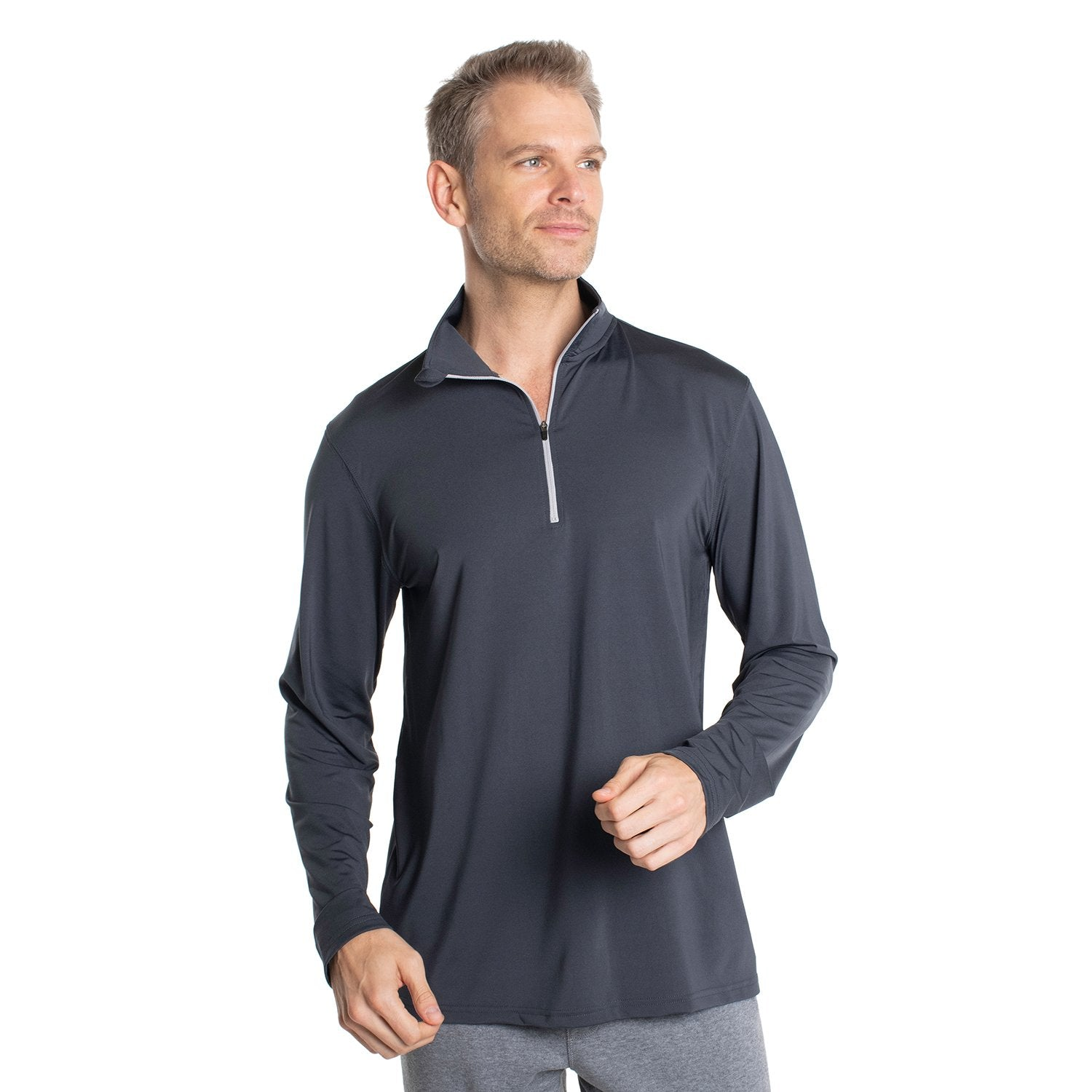 Z730SL Lightweight Quarter Zip - Slate Grey