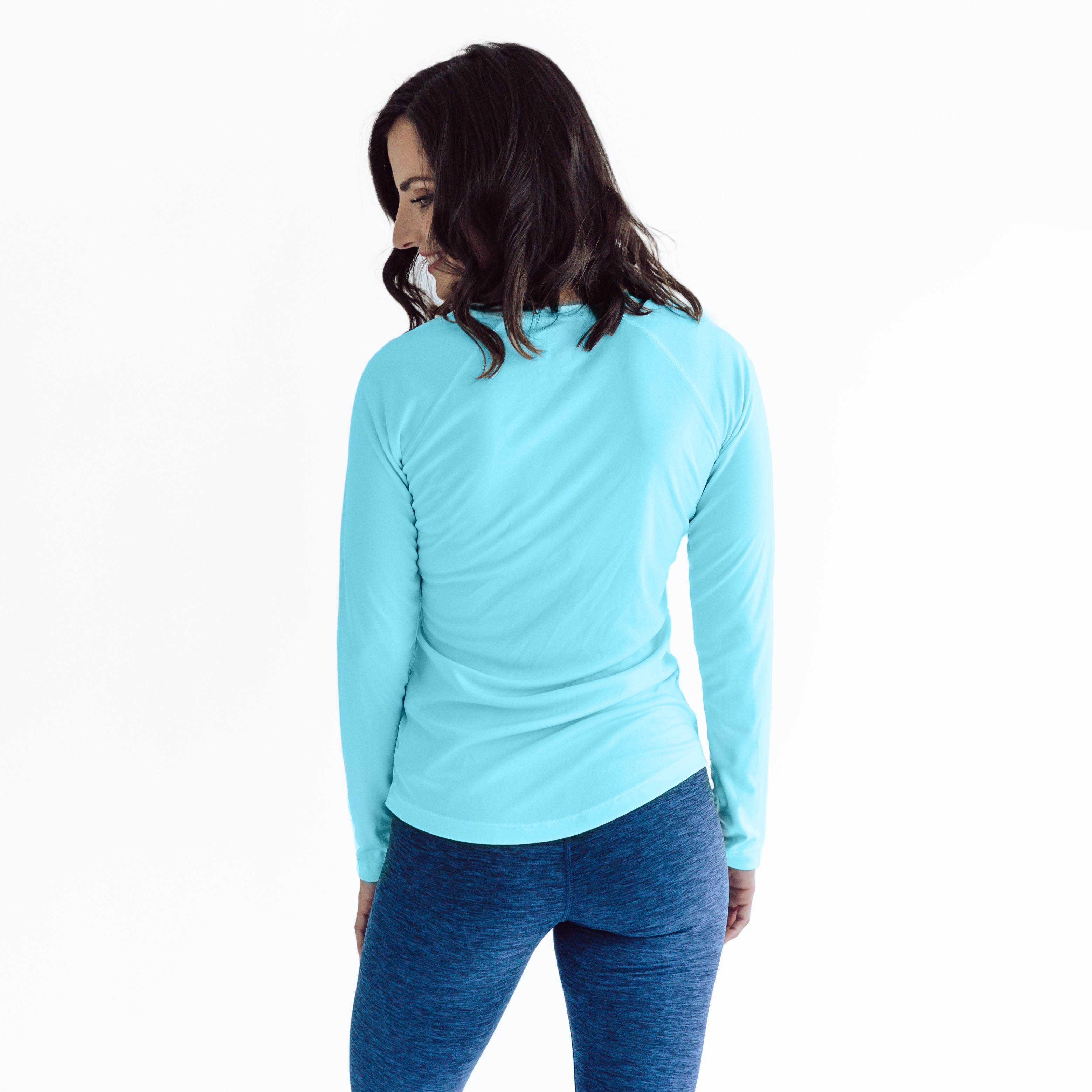 W850WB Ladies Classic Fit Solar Long Sleeve - Water Blue