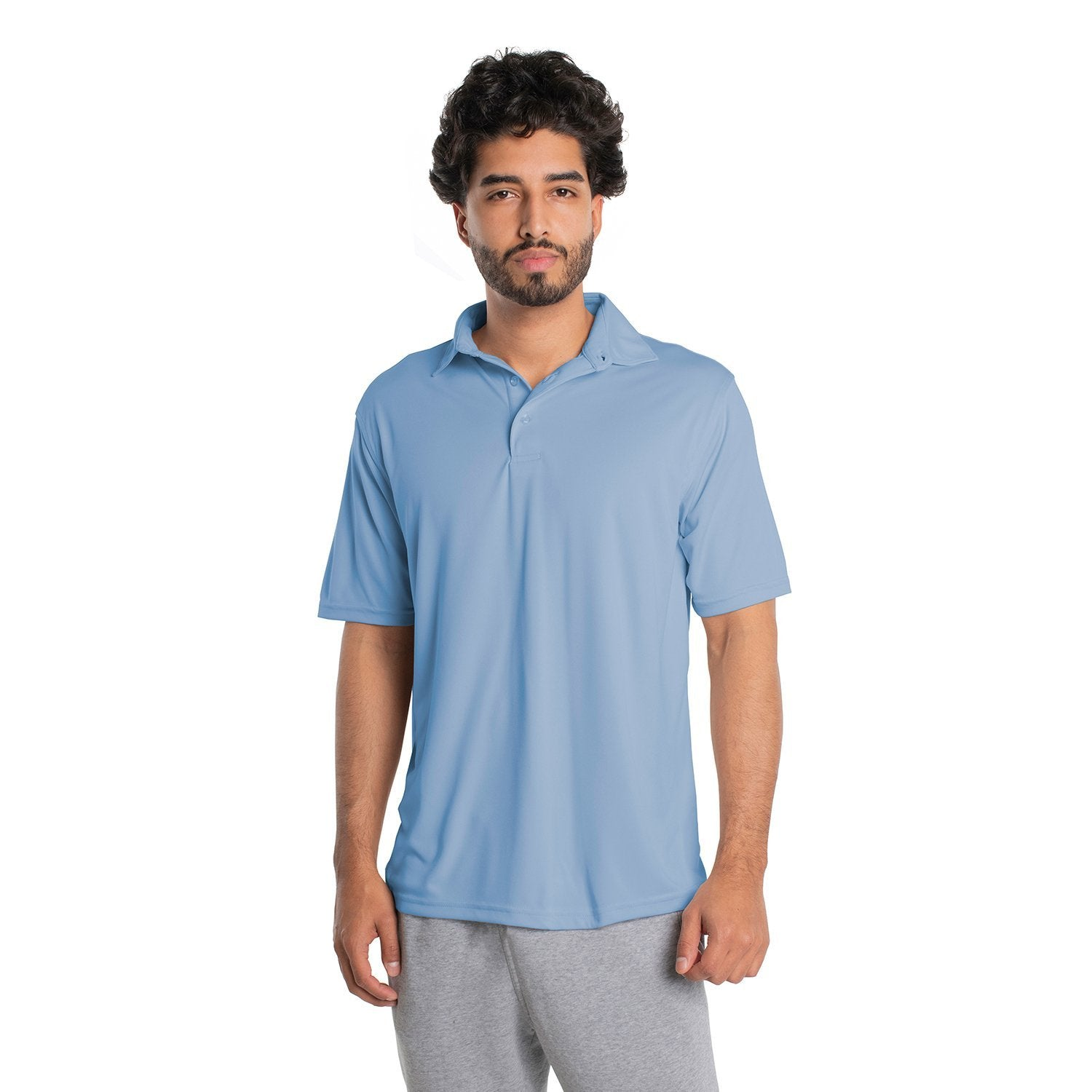 M900CB Solar Polo Short Sleeve - Columbia Blue