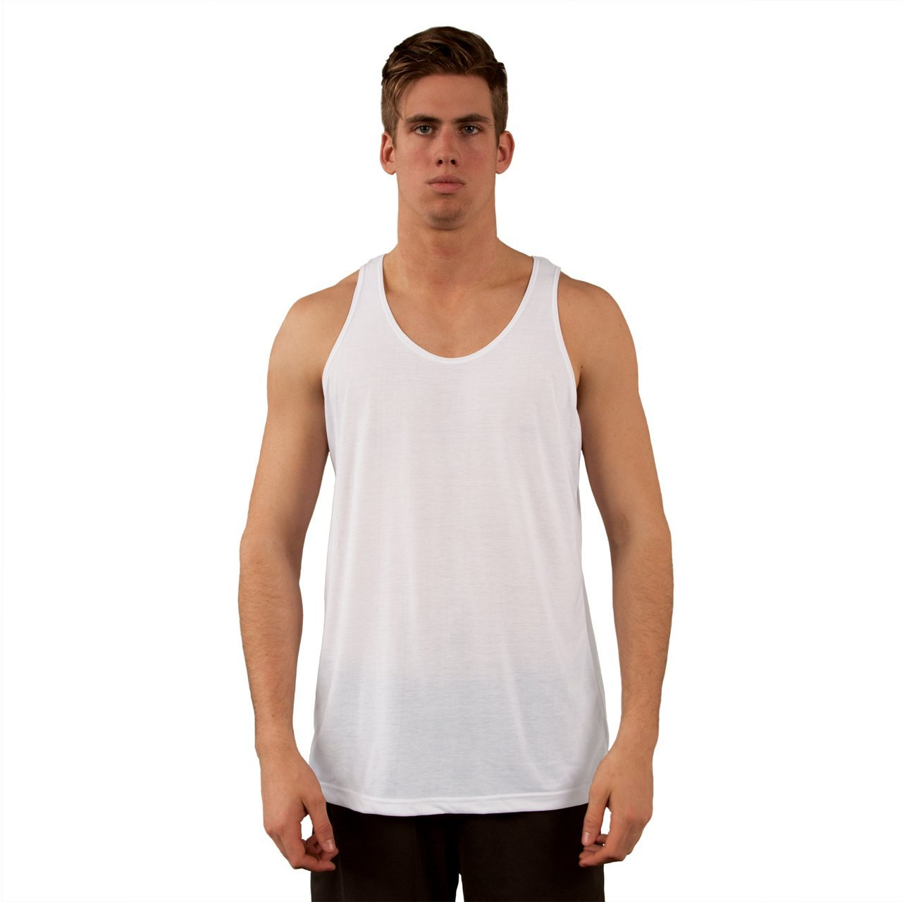T100WH Men's Fashion Fit Tank Top