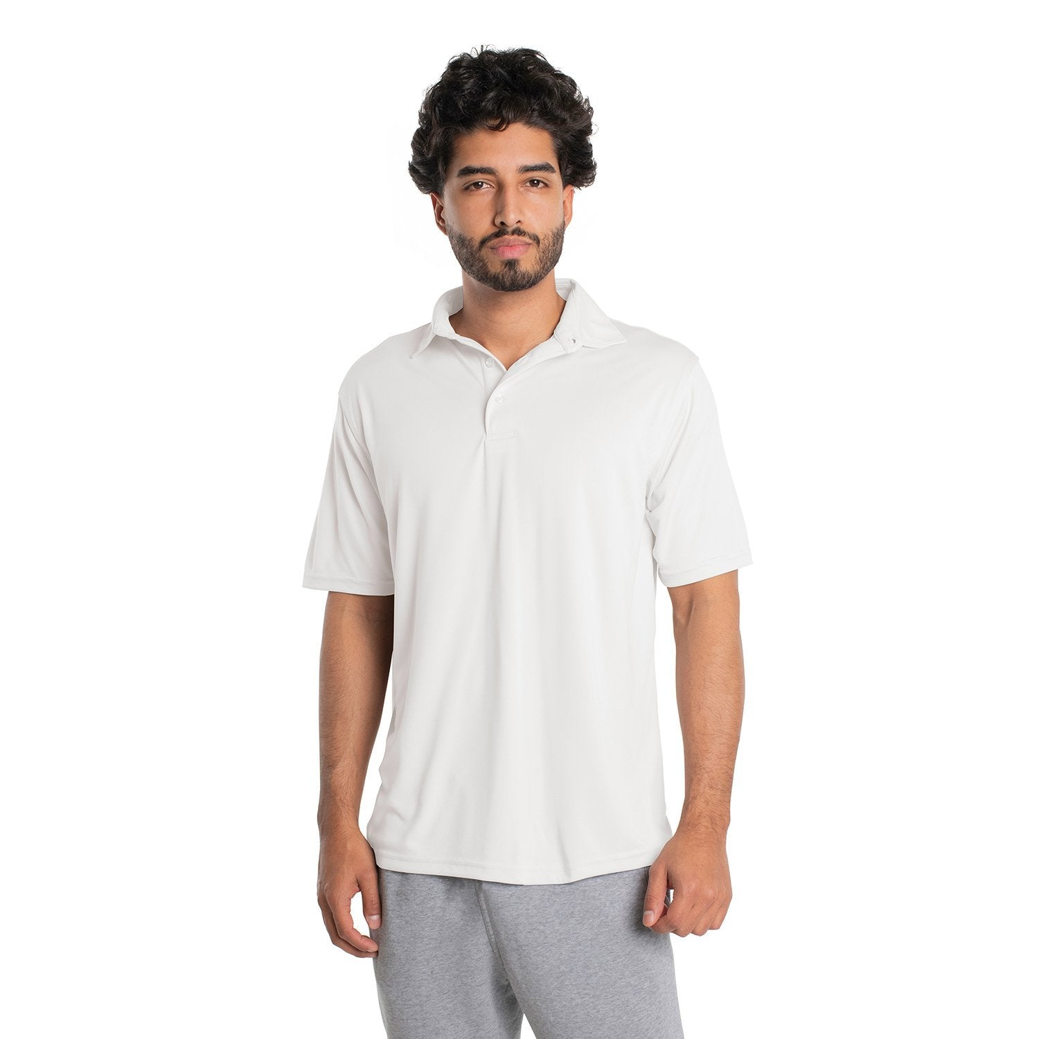 M900WH Solar Polo Short Sleeve - White