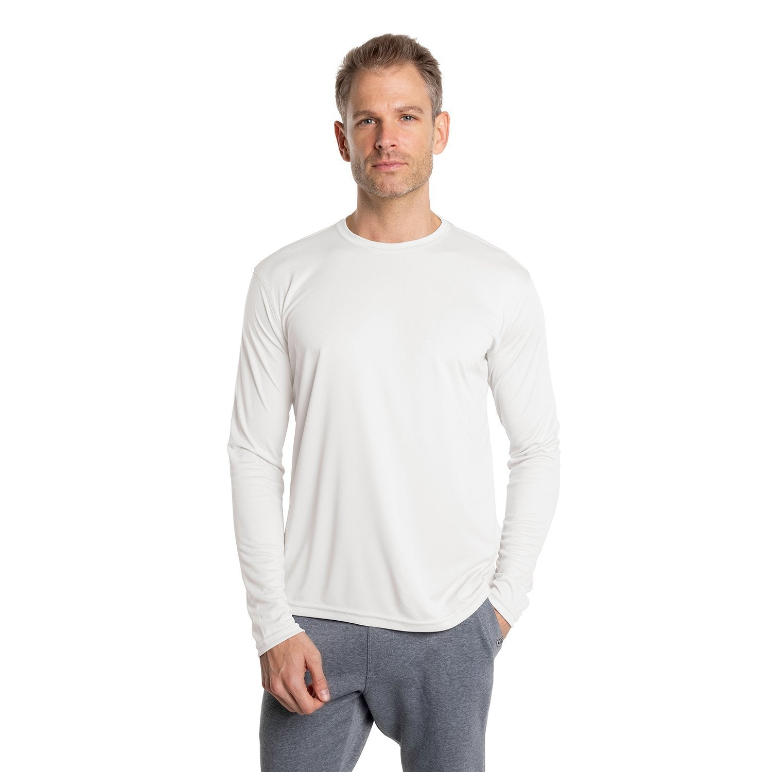 USA-M700WH USA Solar Long Sleeve - White