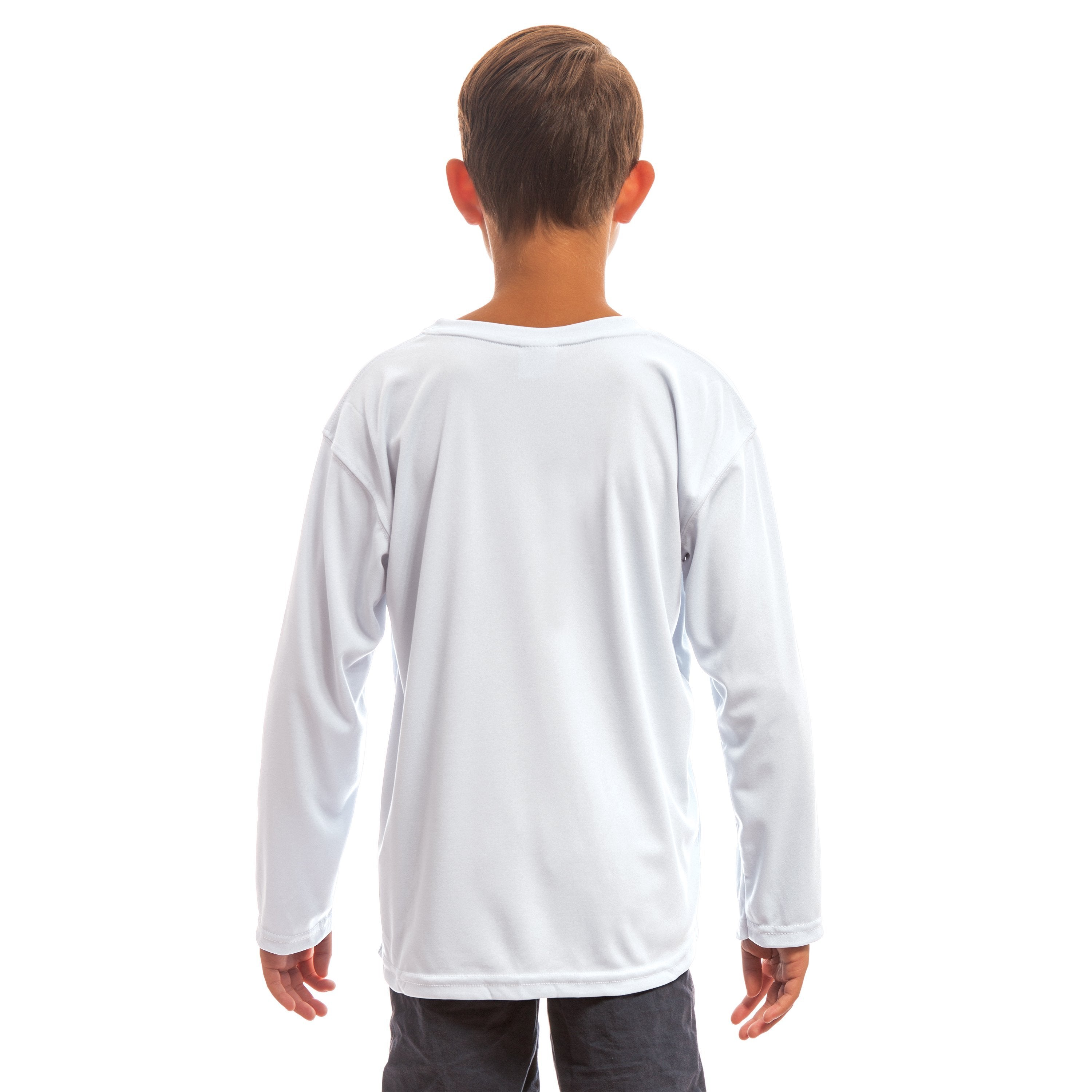 M780WH Youth Solar Long Sleeve - White