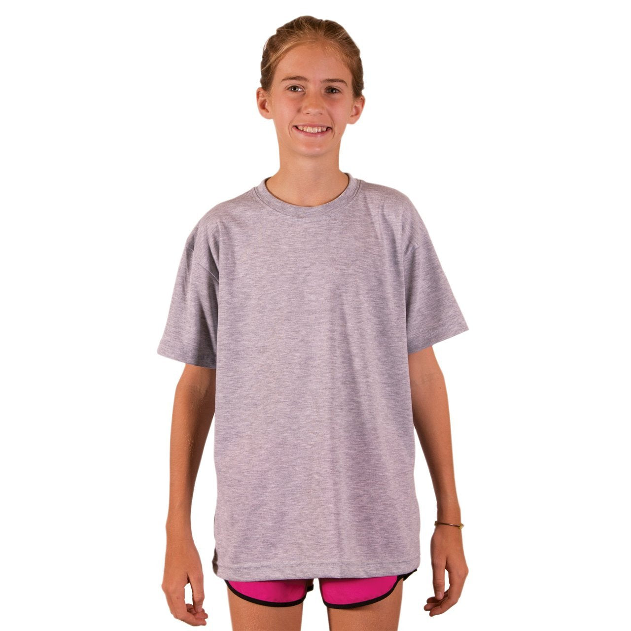 A3SJBBAH Youth Basic Performance T-Shirt - Ash Heather
