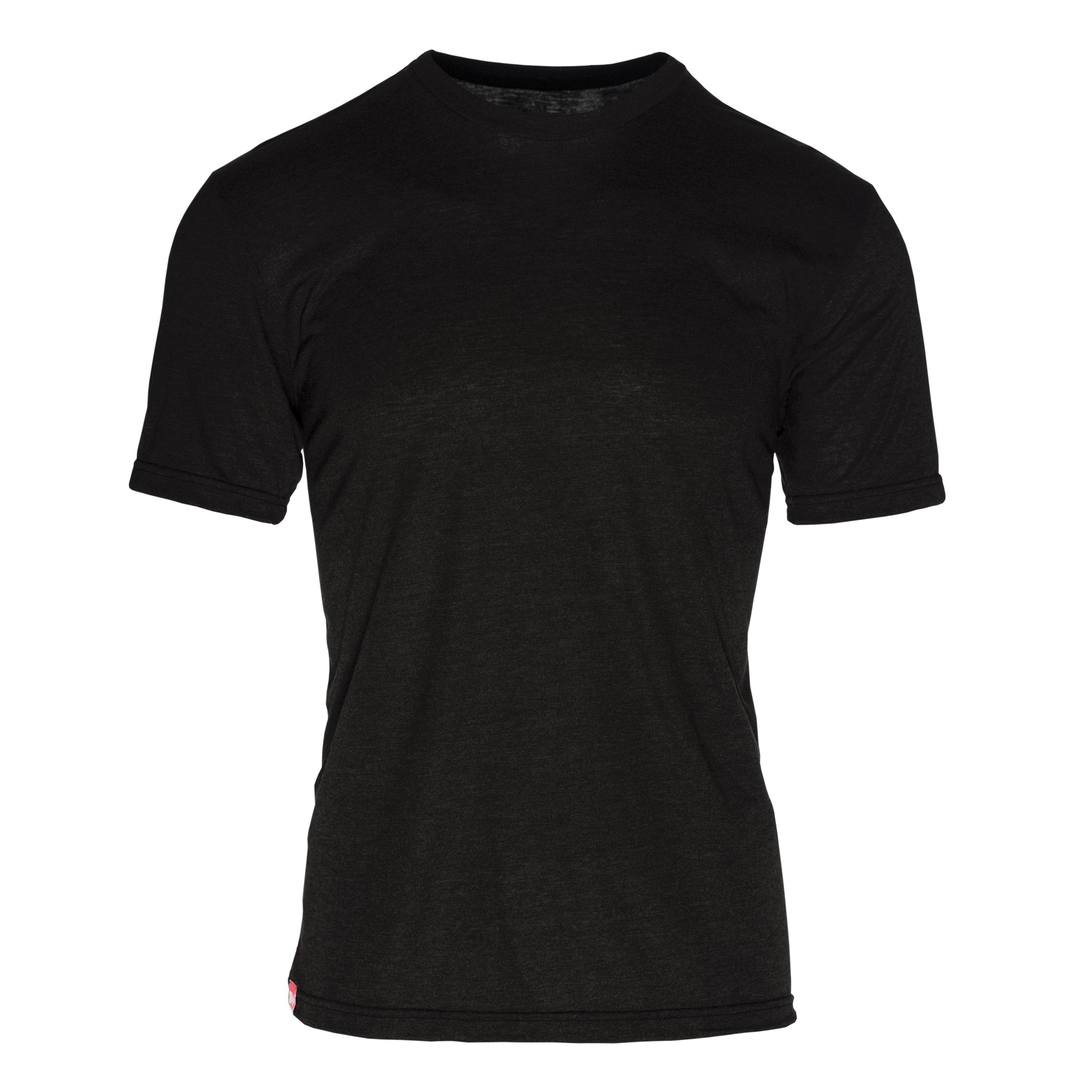 RM101CK Eco REPREVE® Recycled Triblend Crew T-Shirt - Charblack