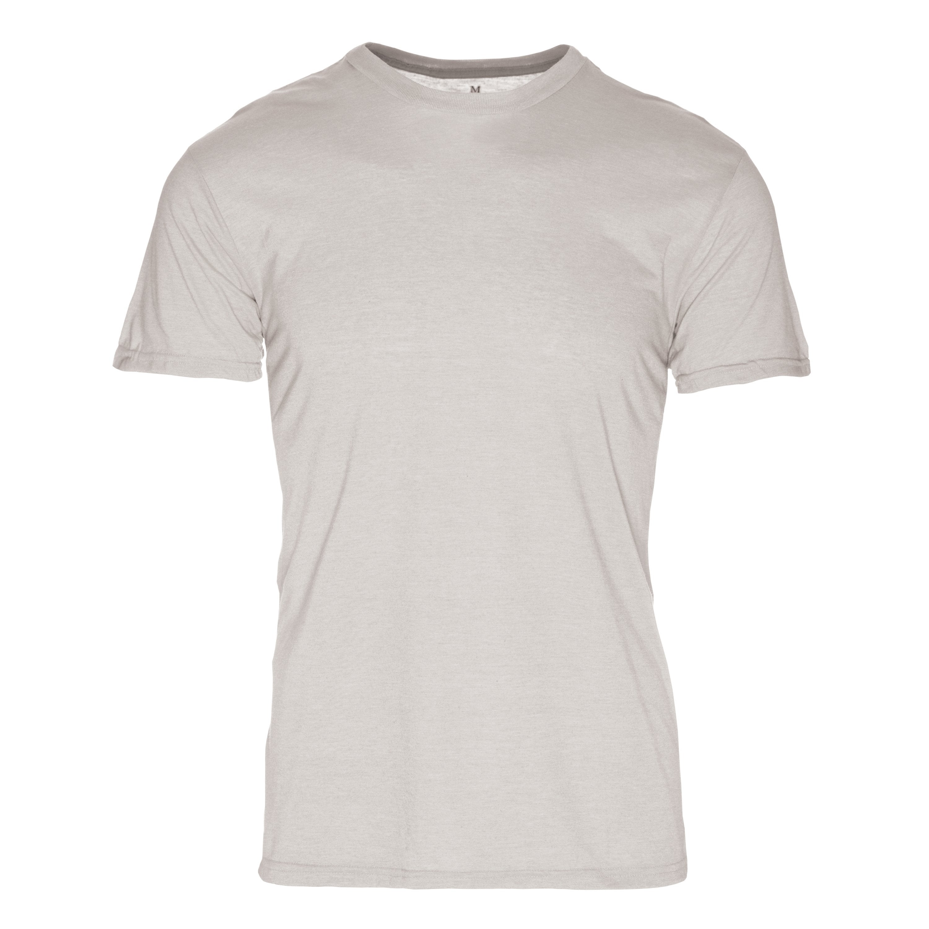 RM100SR Eco REPREVE® Recycled Triblend Crew T-Shirt - Silver