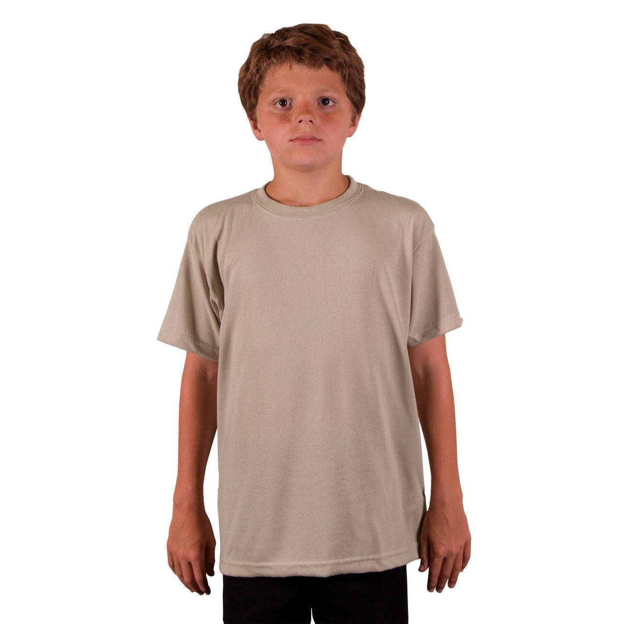 A3SJBBSD Youth Basic Performance T-Shirt - Sand