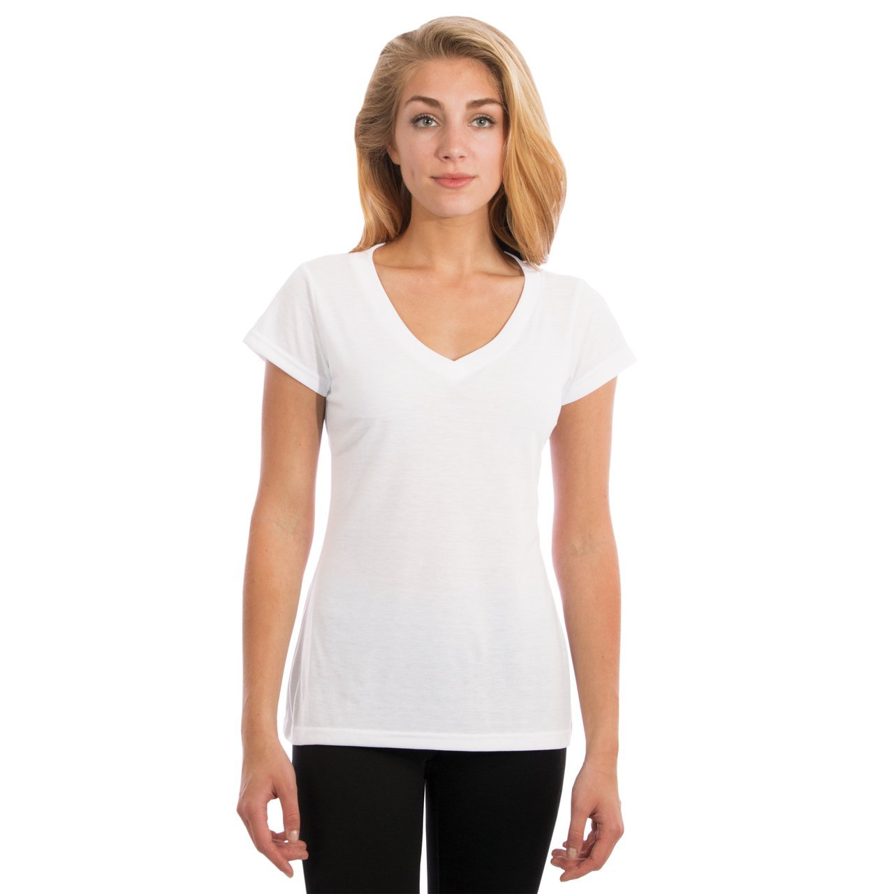 L460WH Ladies Frankly Fashion V-Neck