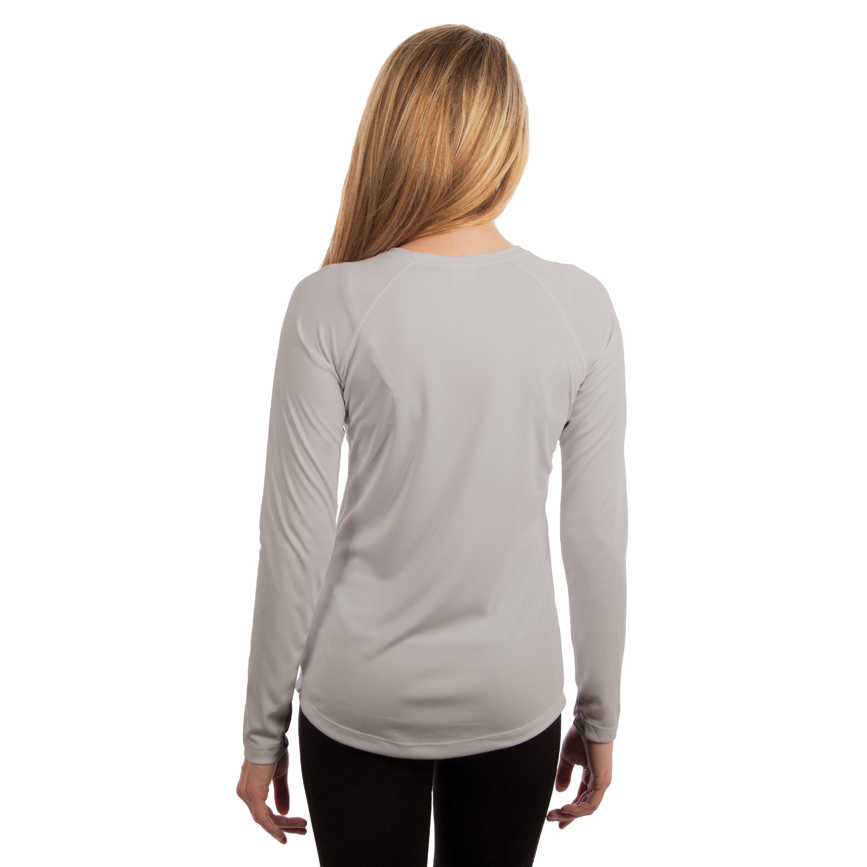 USA-M750PG USA Ladies Solar Slim Fit Long Sleeve - Pearl Grey