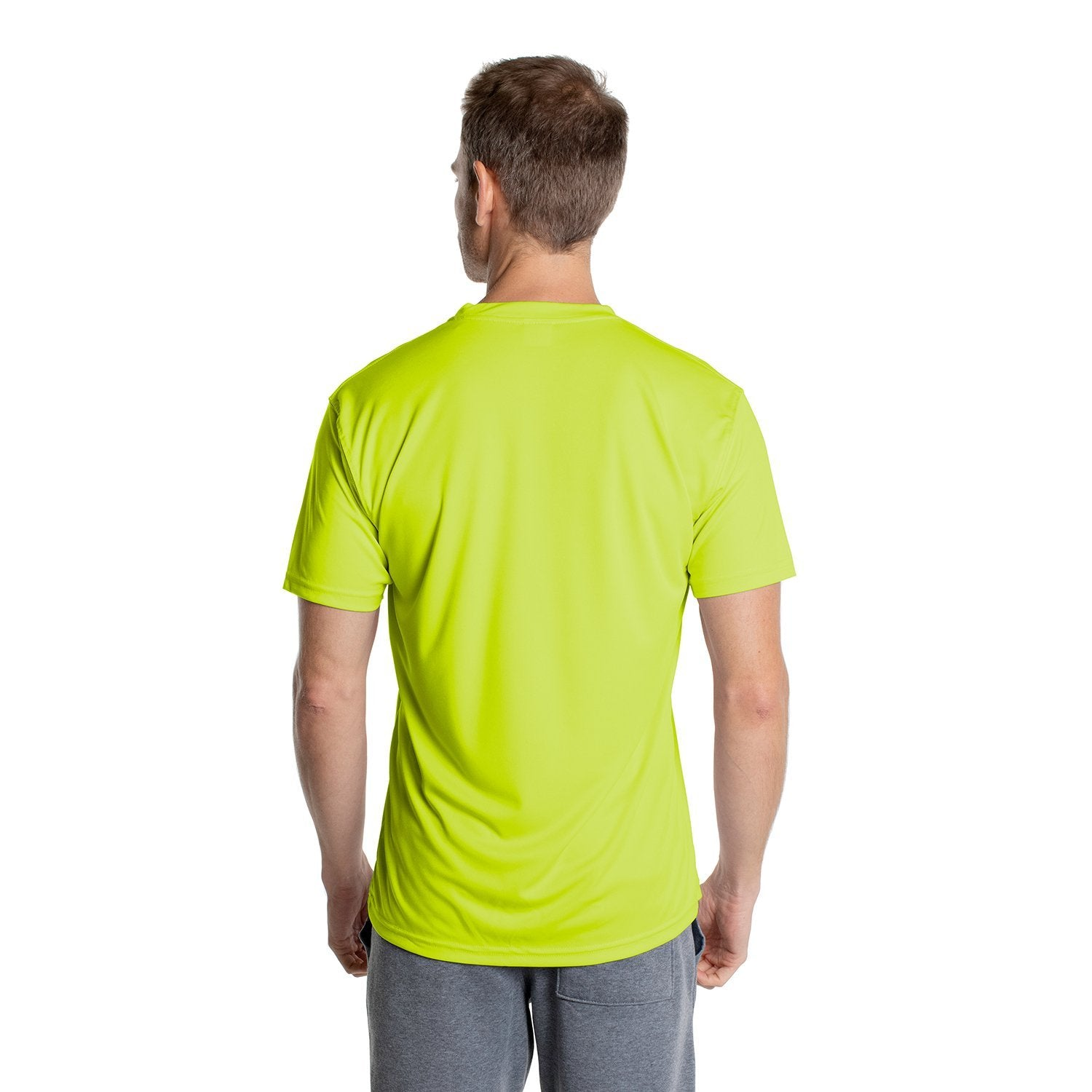 USA-M100SY USA Solar Short Sleeve - Safety Yellow
