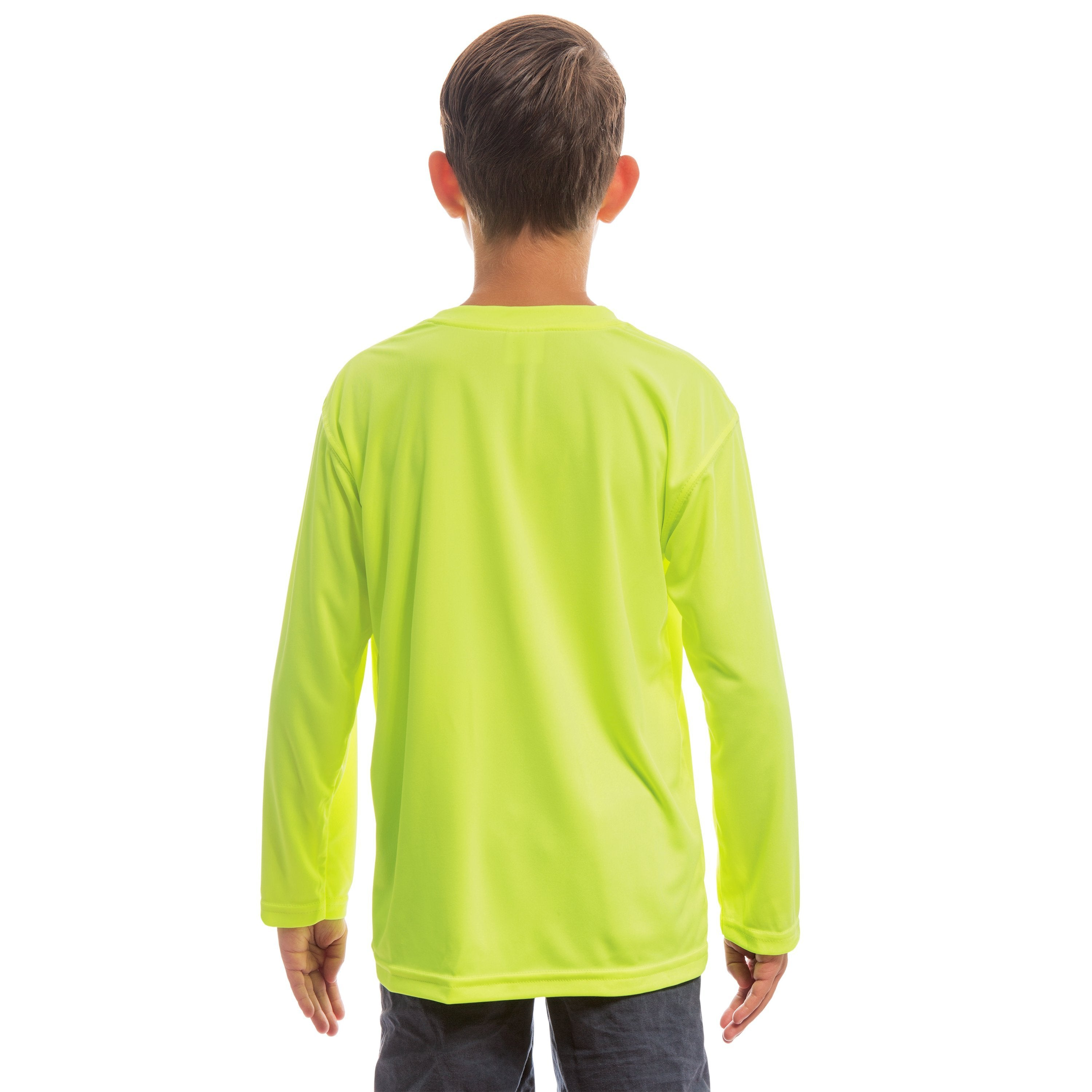 M780SY Youth Solar Long Sleeve - Safety Yellow