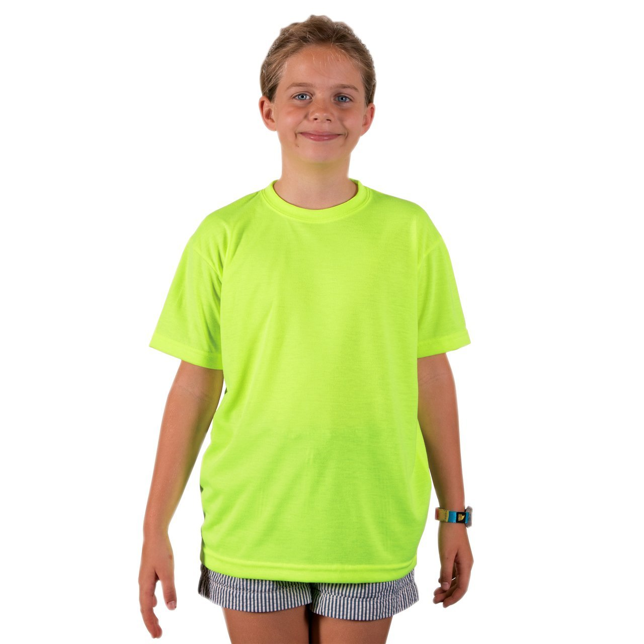 A3SJBBSY Youth Basic Performance T-Shirt - Safety Yellow