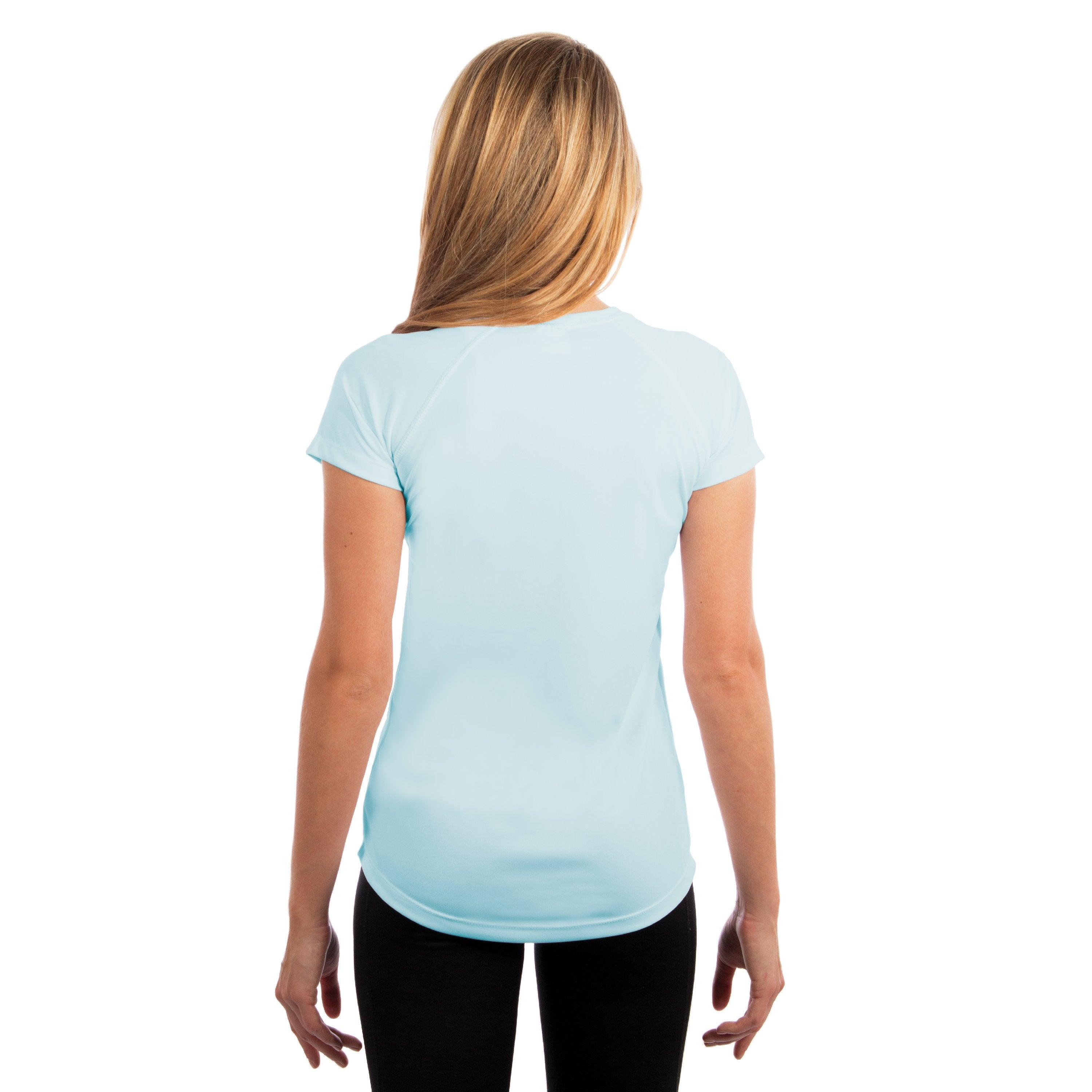 USA-M150AB USA Ladies Solar Short Sleeve - Arctic Blue