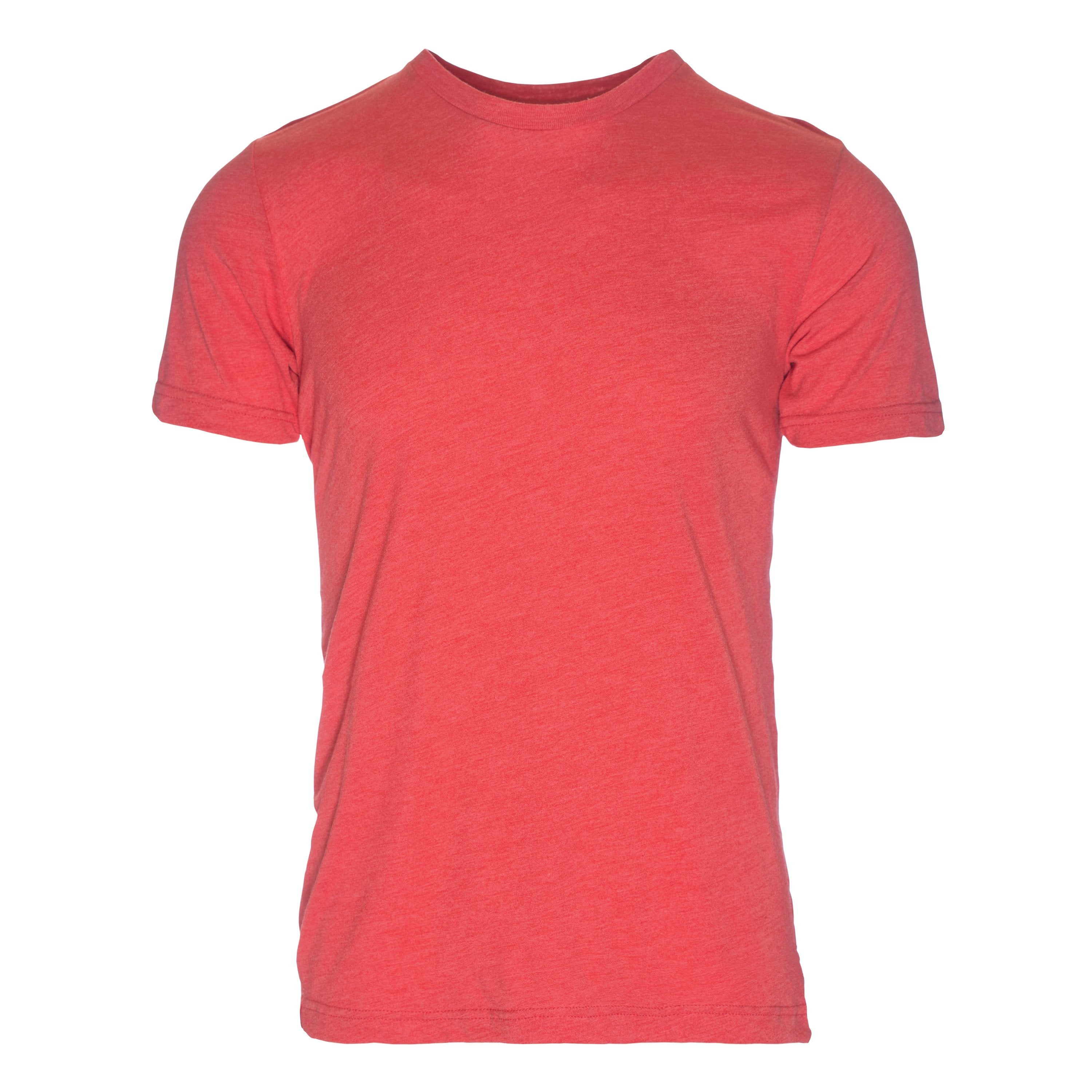 RM100RD Eco REPREVE® Recycled Triblend Crew T-Shirt - Red