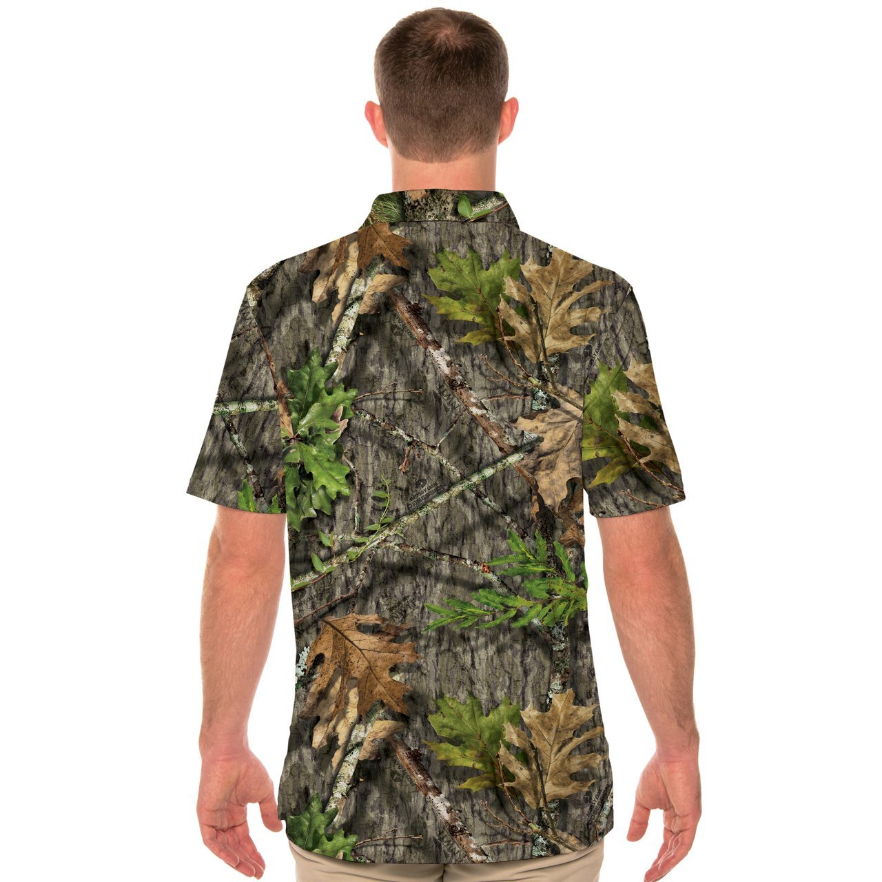 M900M15 Solar Polo Short Sleeve - Mossy Oak Obsession