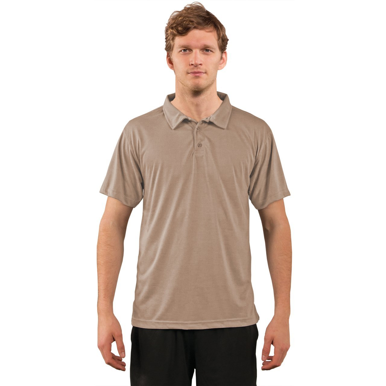 A1SJBPSD Basic Performance Polo - Sand