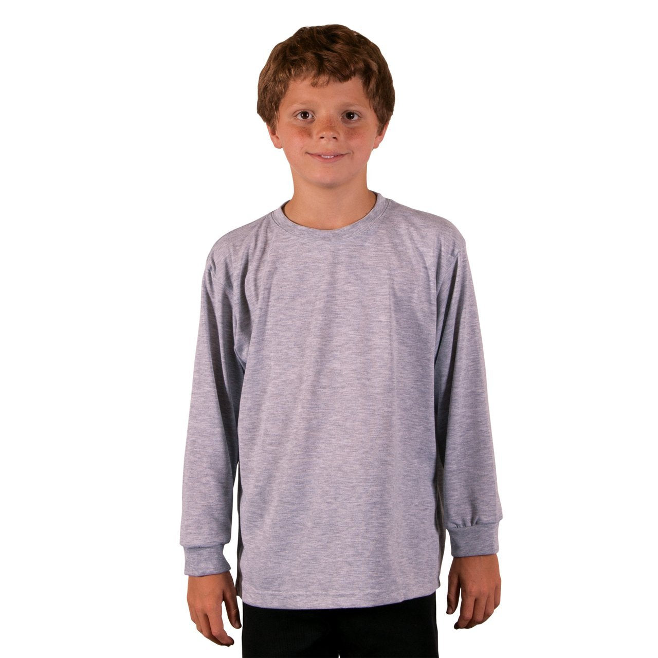 A3SJBLAH Youth Basic Performance Long Sleeve T-Shirt - Ash Heather