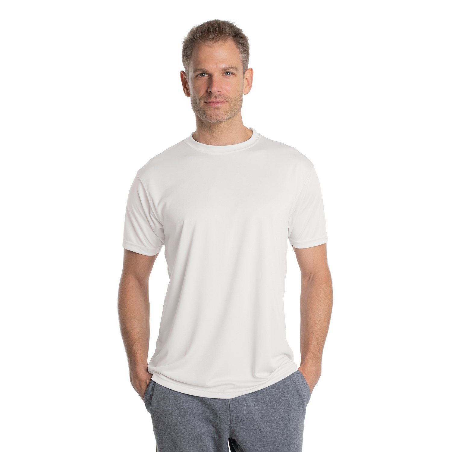 USA-M100WH USA Solar Short Sleeve - White