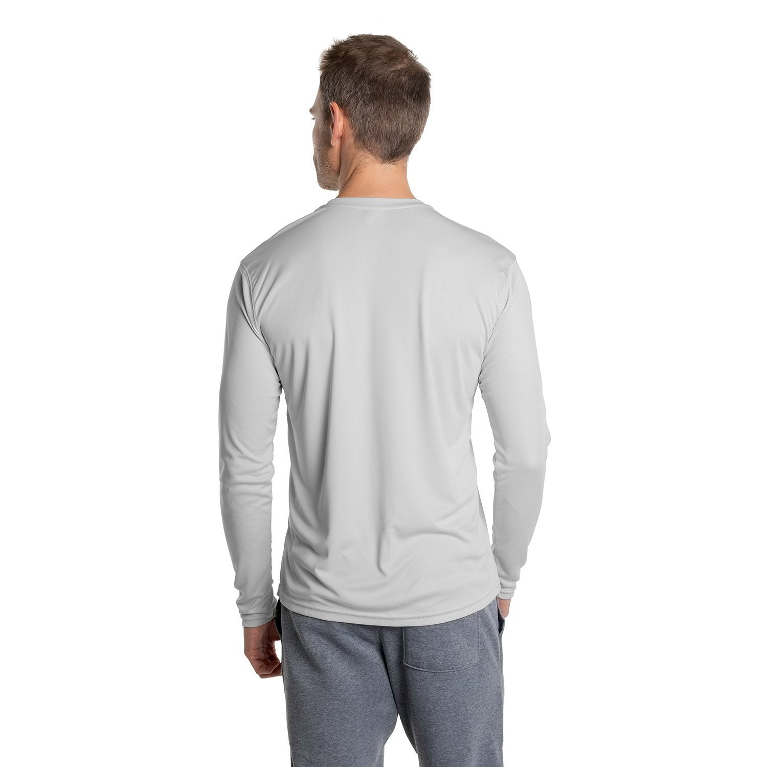 USA-M700PG USA Solar Long Sleeve - Pearl Grey