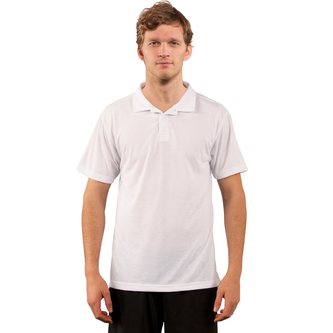 A1SJBPWH Basic Performance Polo - White