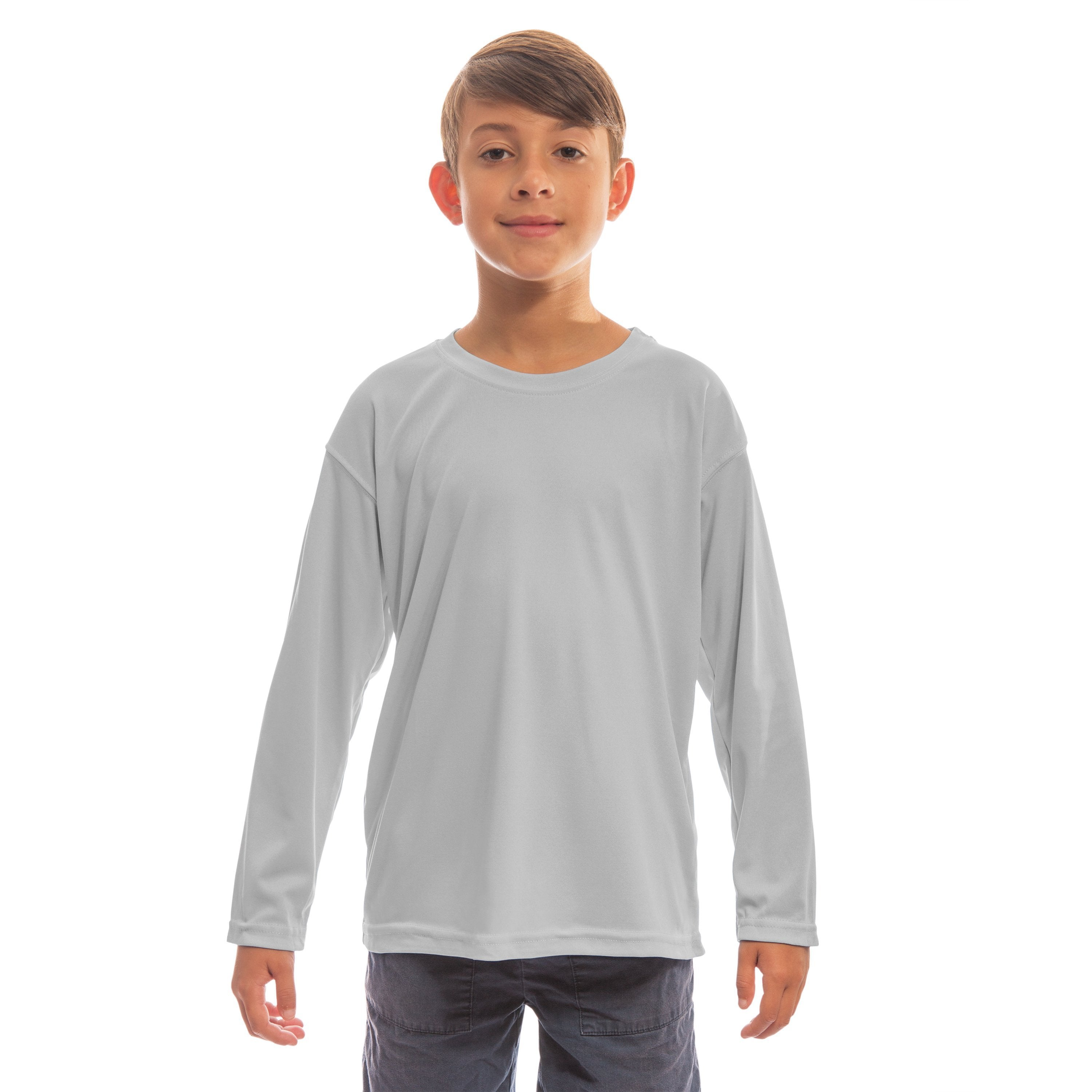 M780PG Youth Solar Long Sleeve - Pearl Grey