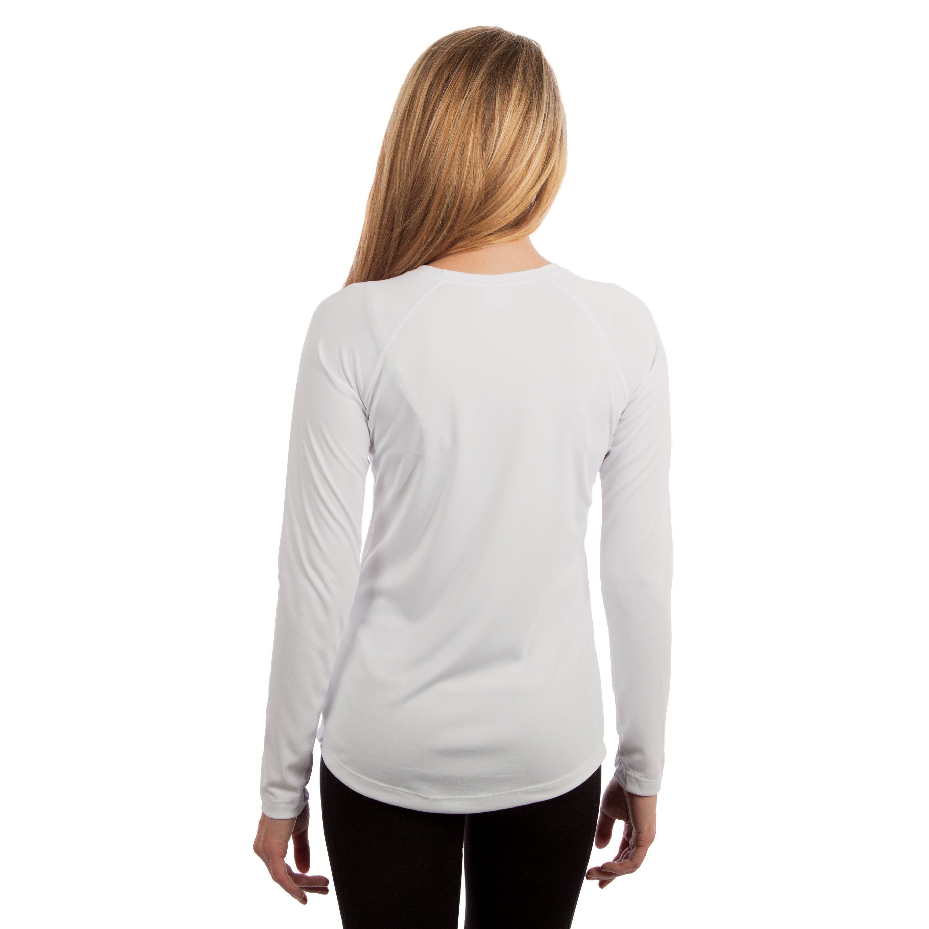 M750WH Ladies Solar Slim Fit Long Sleeve - White