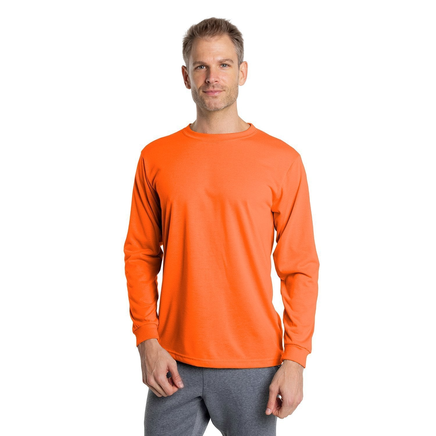 A1SJBLSO Basic Performance Long Sleeve T-Shirt - Safety Orange
