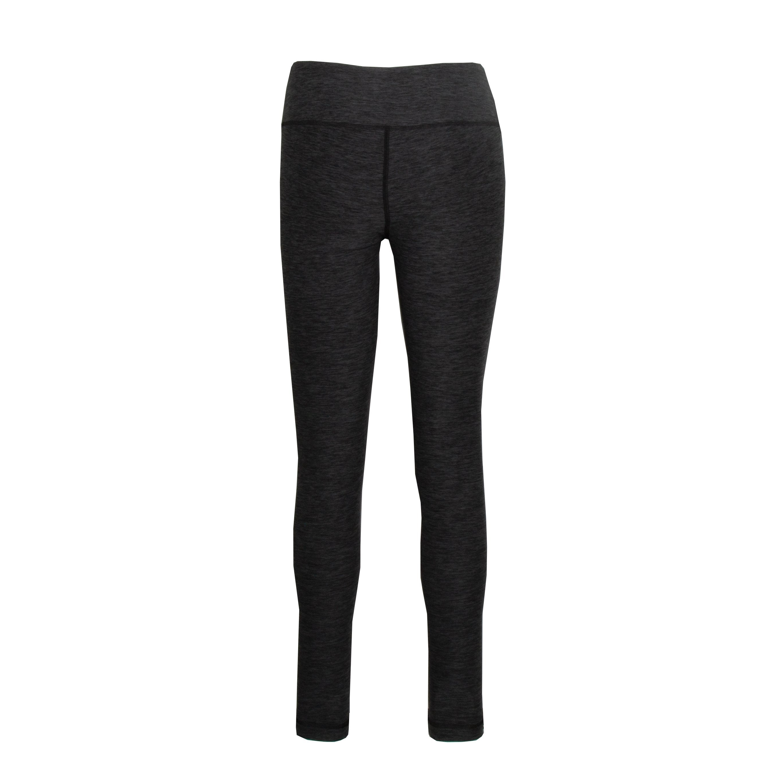 L600CV Heathered Leggings Full Length - Caviar