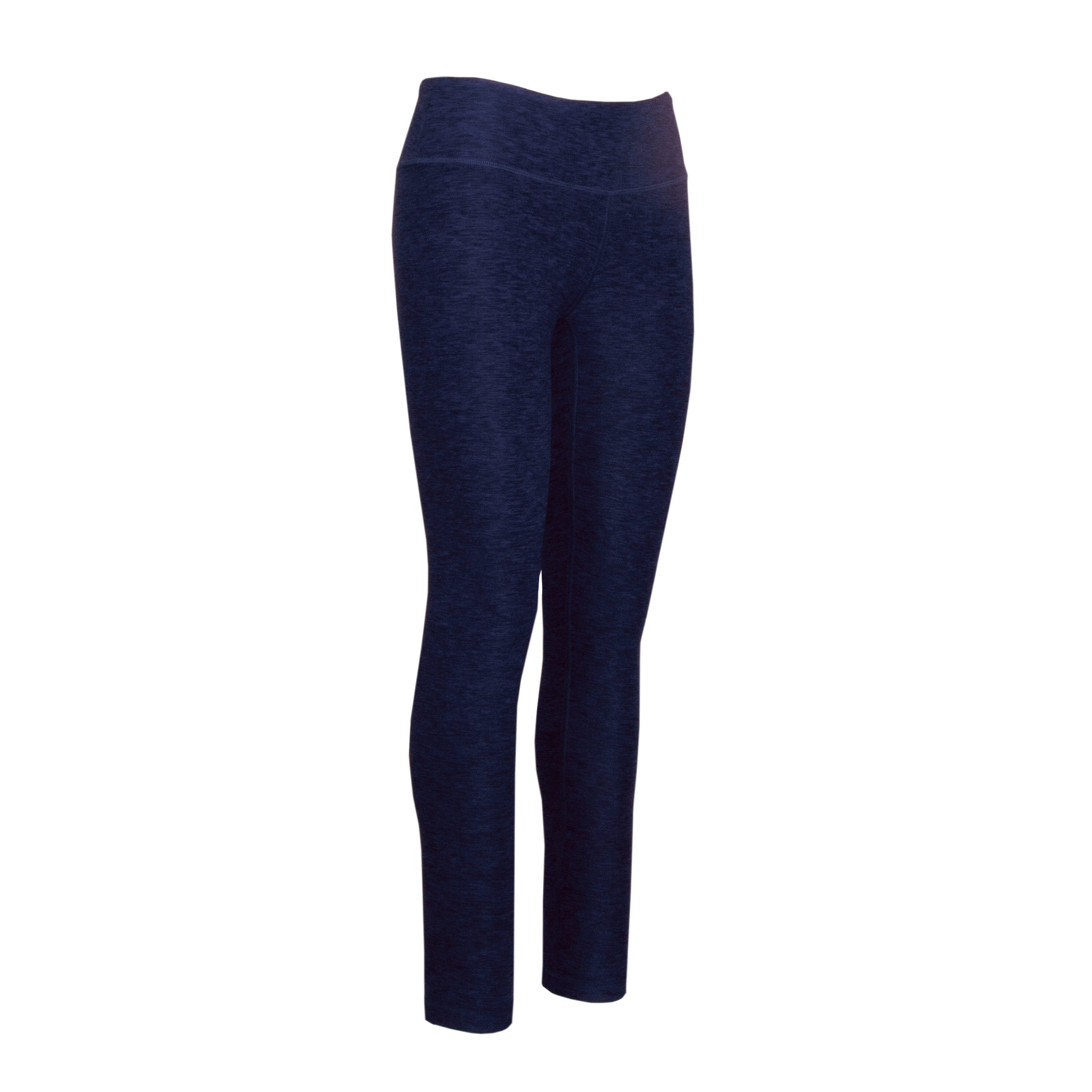 L600PC Heathered Leggings Full Length - Pacific Blue