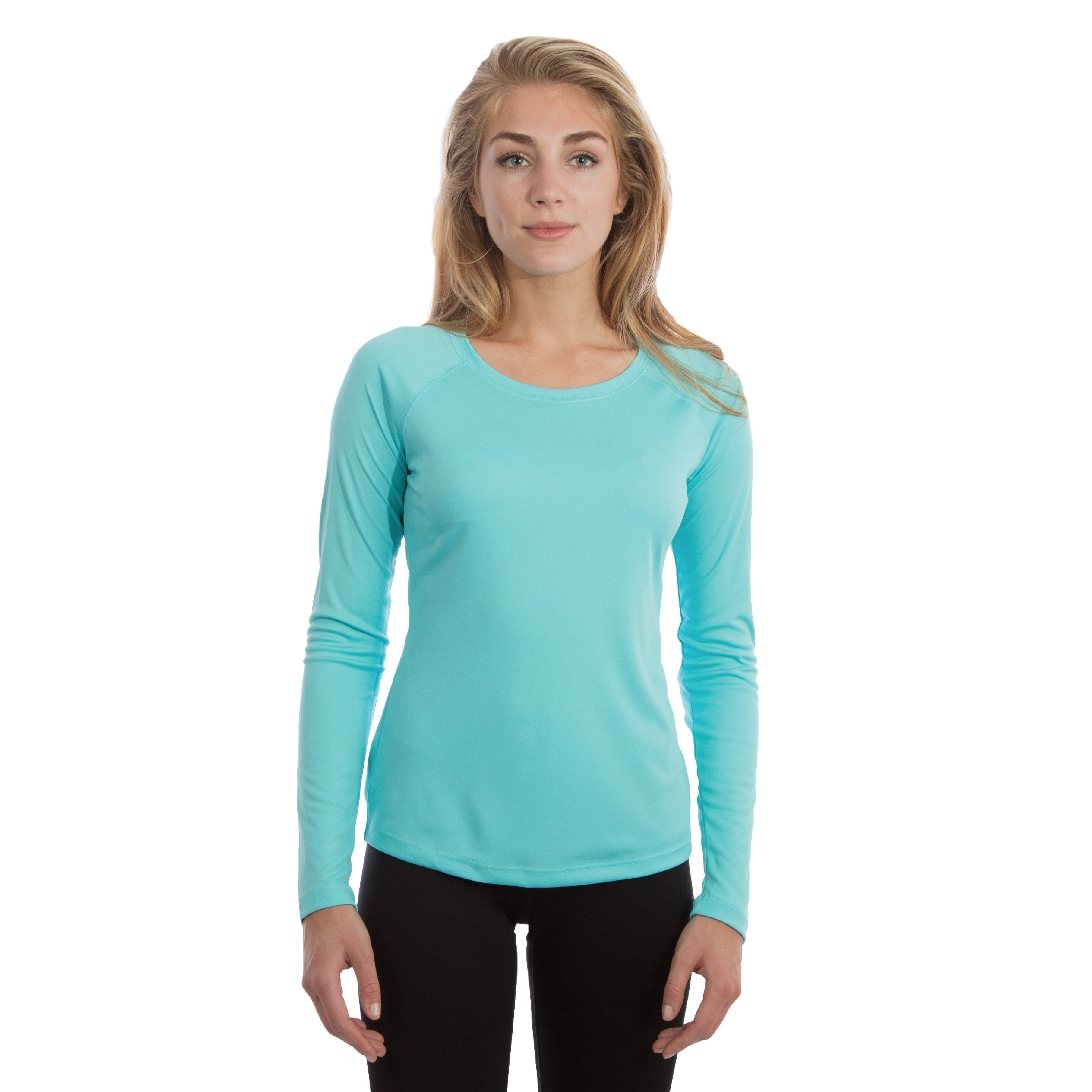 M750WB Ladies Solar Slim Fit Long Sleeve - Water Blue