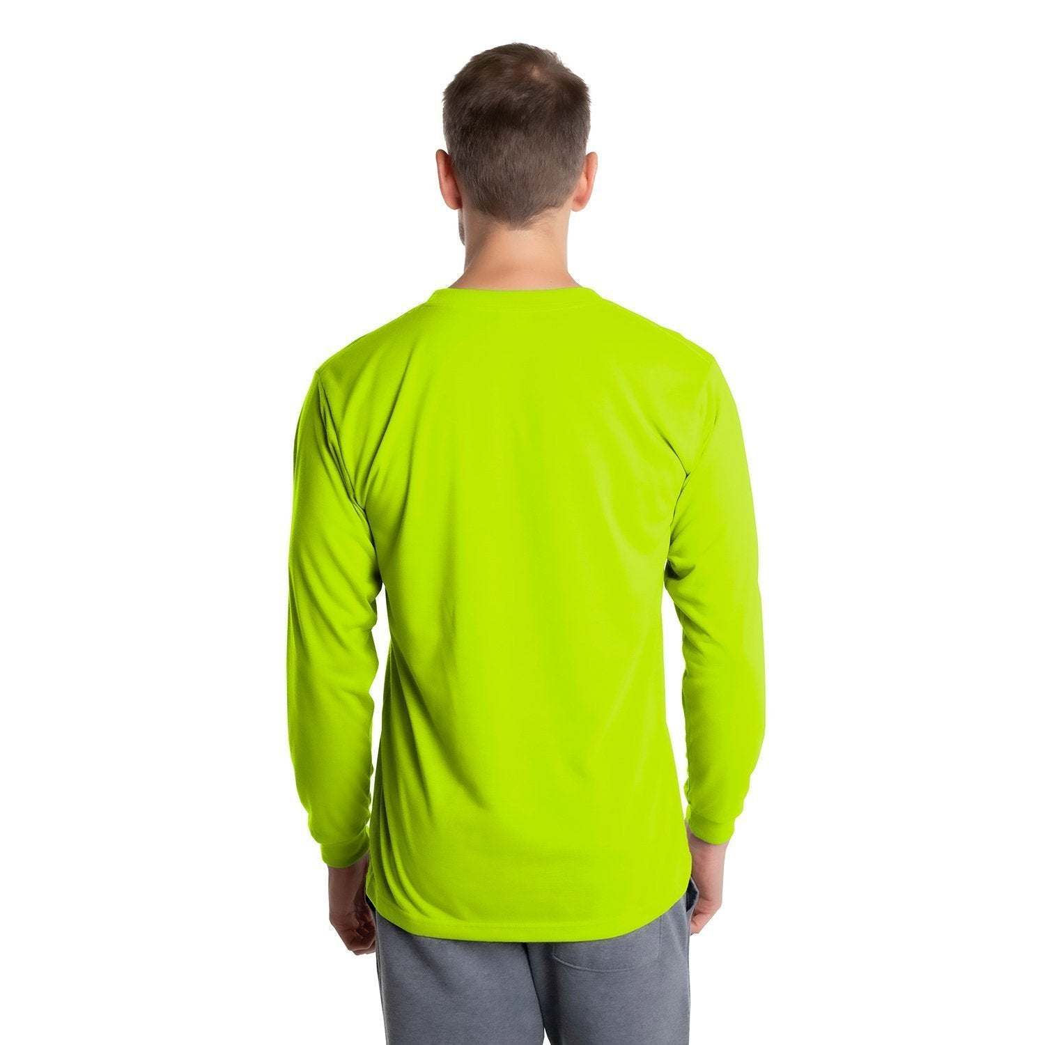 A1SJBLSY Basic Performance Long Sleeve T-Shirt - Safety Yellow