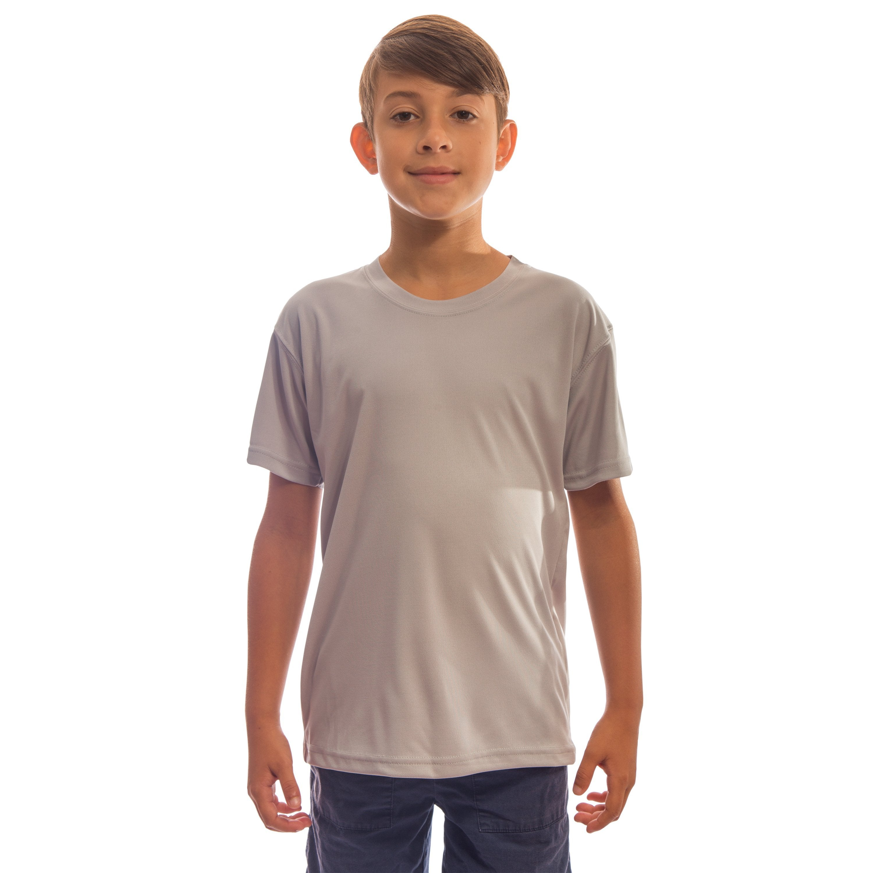 M180AG Youth Solar Short Sleeve - Athletic Grey