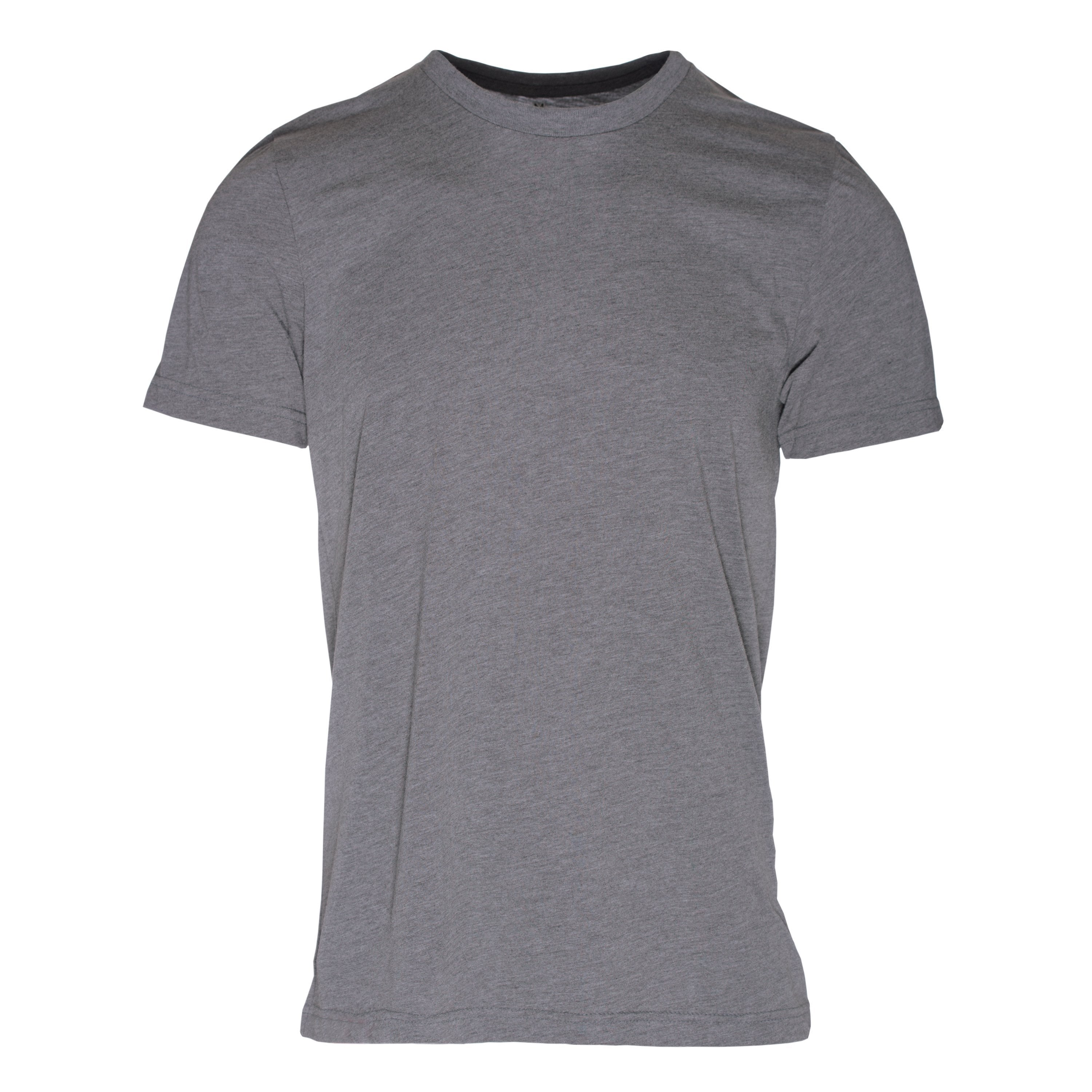 RM101GR Eco REPREVE® Recycled Triblend Crew T-Shirt - Grey