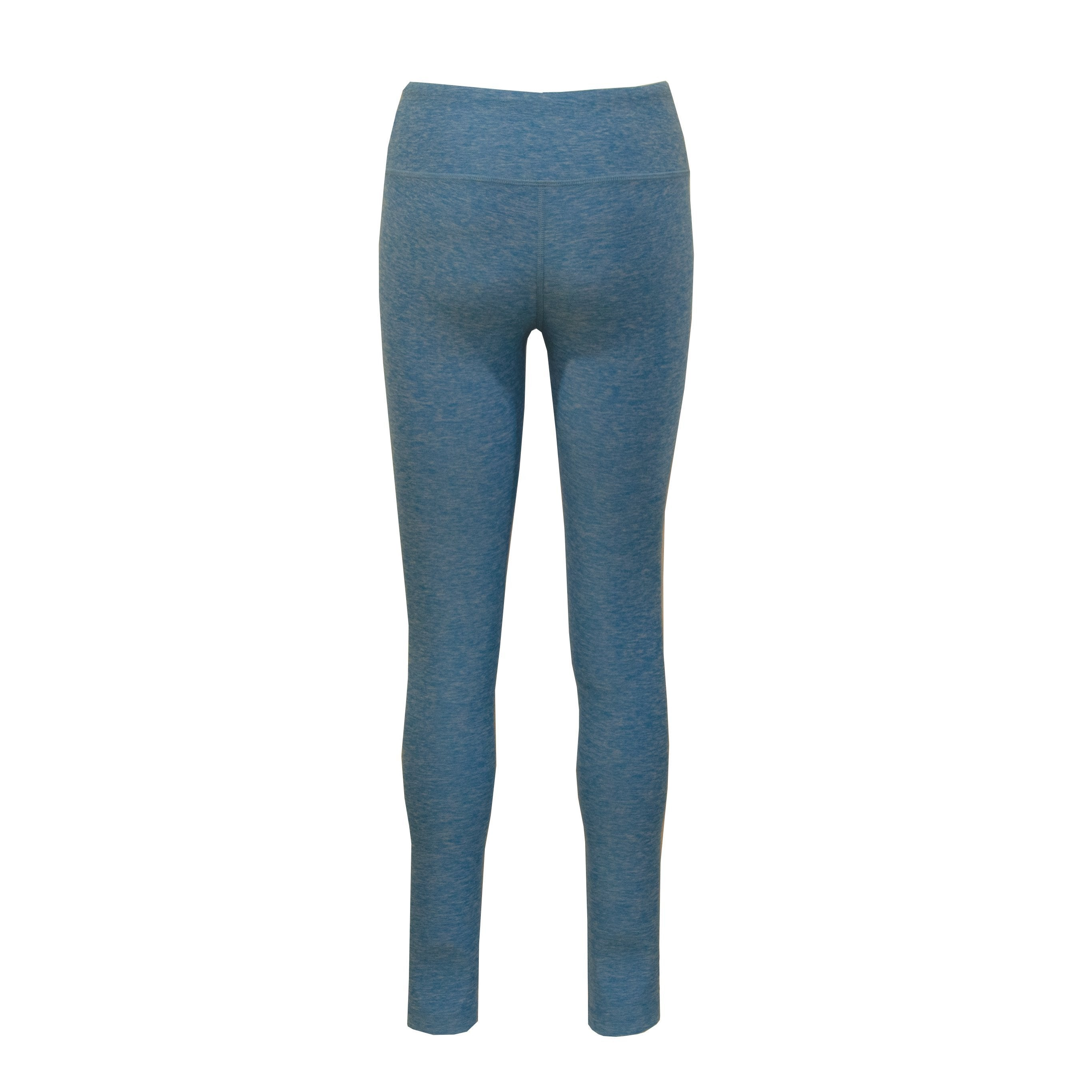 L600CO Heathered Leggings Full Length - Cobalt