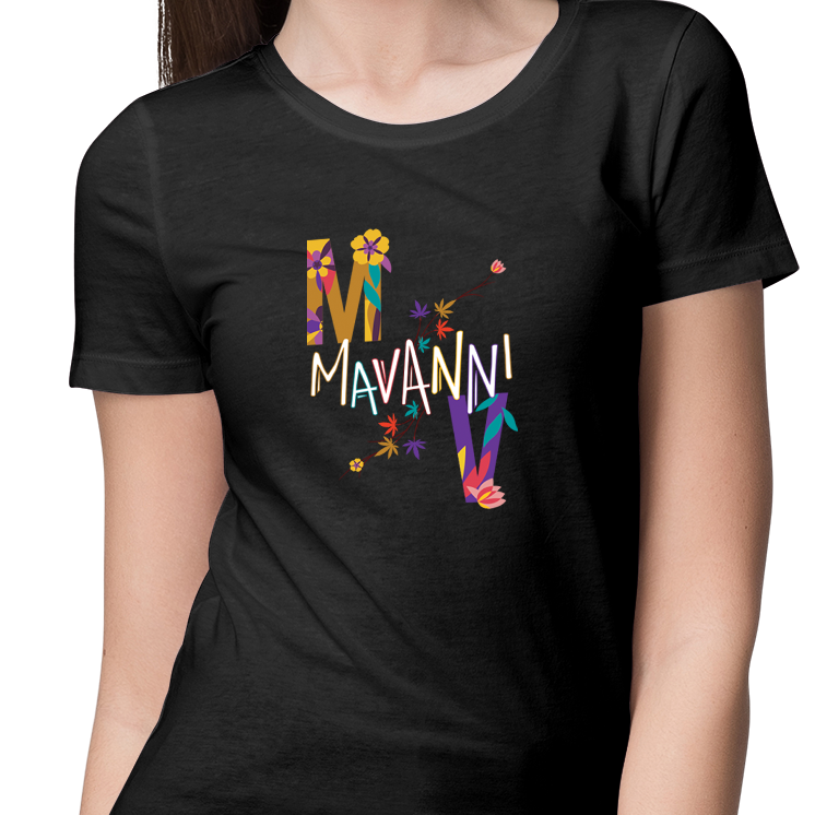 MAVANNI COLORED PALETTE SHORT SLEEVE TEE SHRIT