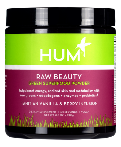 Raw Beauty Green Superfood Powder - Tahitian Vanilla & Berry Infusion