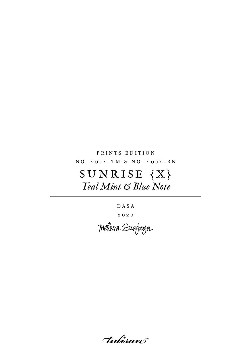 SUNRISE { X } - Teal Mint & Blue Note