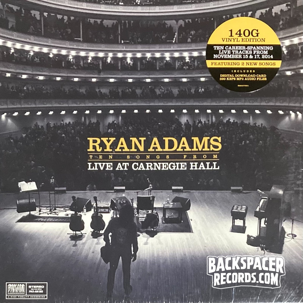 Ryan Adams ‎– Ten Songs From Live At Carnegie Hall LP (Sealed)