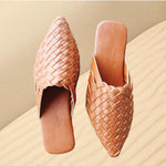 Load image into Gallery viewer, Bay Woven Flat Mules