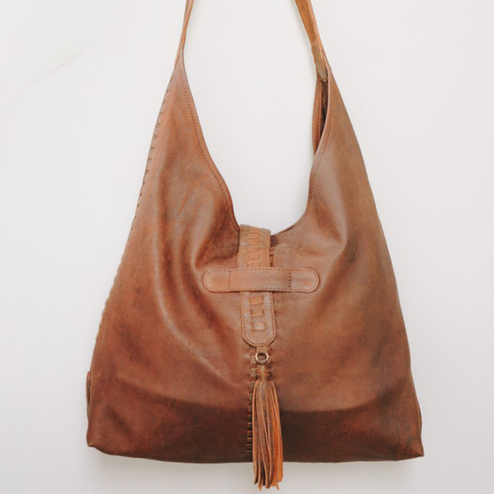 Daisy Hobo Leather Bag - Iguana