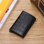 Load image into Gallery viewer, Slim Crocodile Embossed Leather Wallet - Iguana