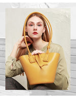 Load image into Gallery viewer, Hutton Leather Bucket Bag - Iguana