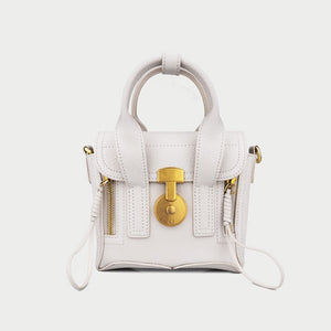 Hutton Moto Leather Crossbody Bag - Iguana