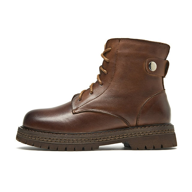 McSimone Leather Boots - Iguana